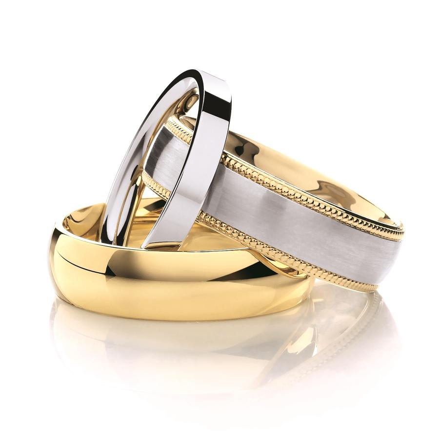 Gents Precious Metal Wedding Rings