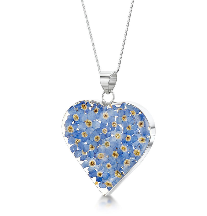 Forget-Me-Not Medium Heart Pendant