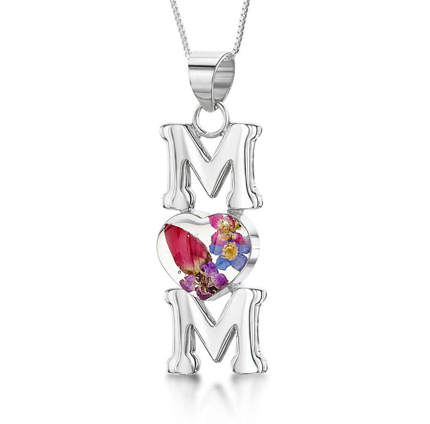 Mixed Flowers Mum Pendant