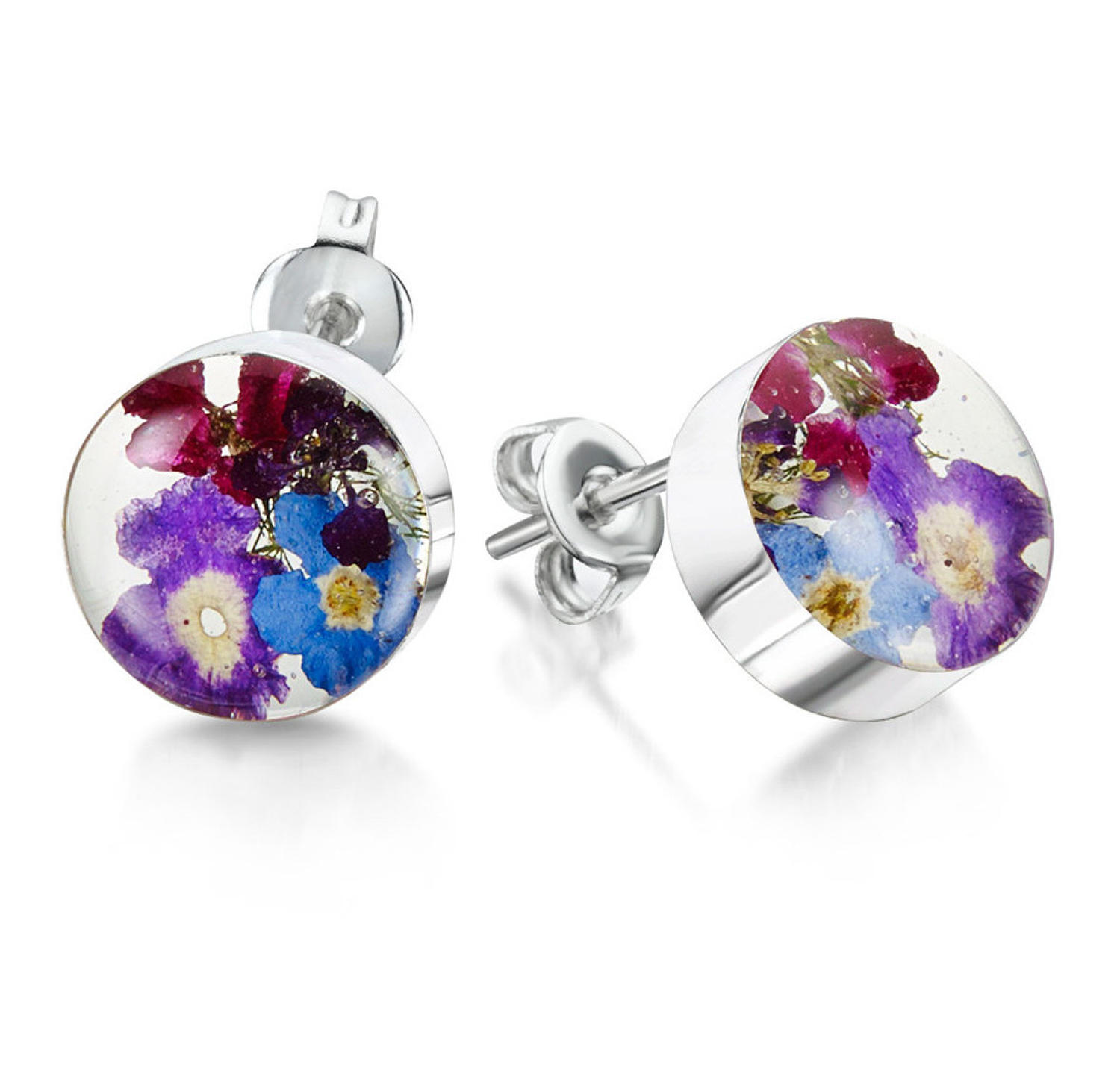Purple Haze Round Stud Earrings