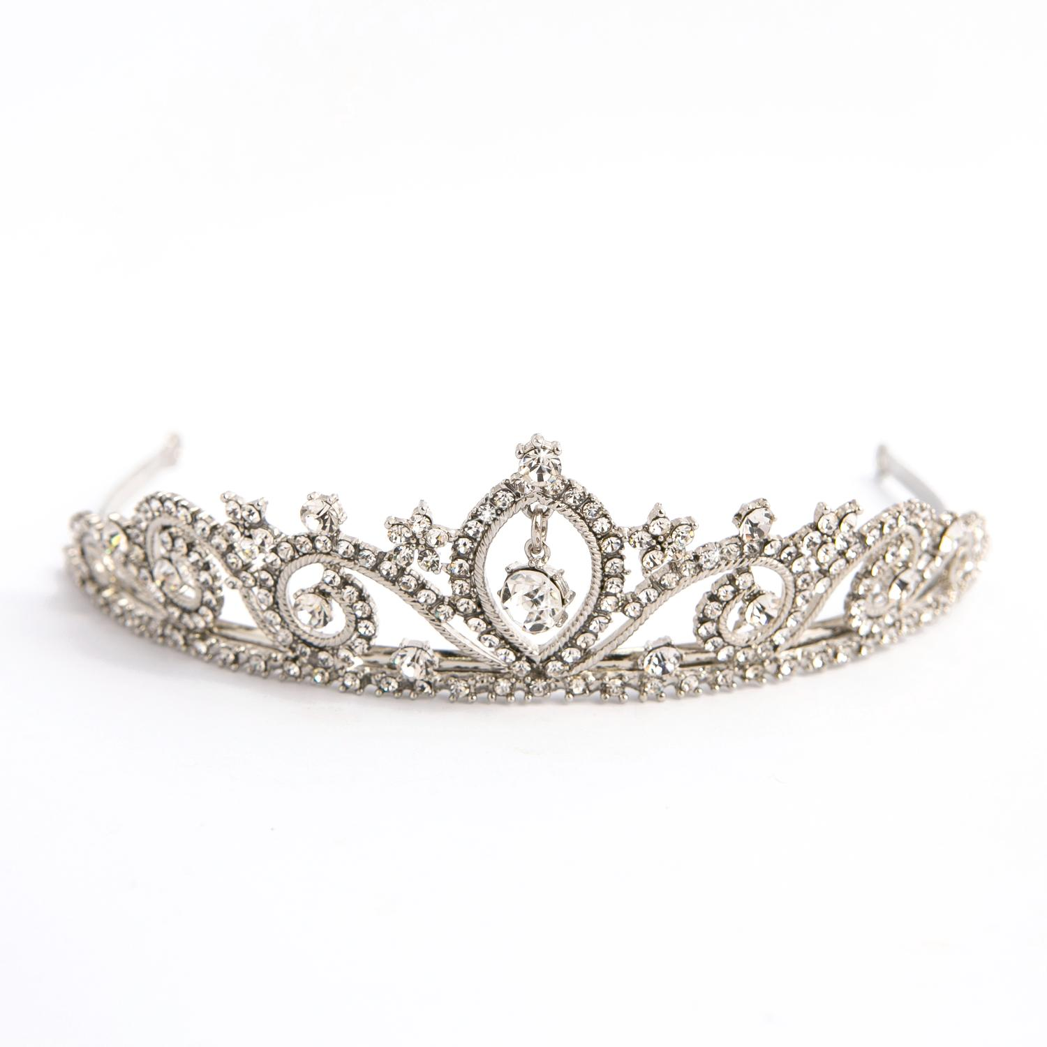 Silver Plated & Crystal Tiara