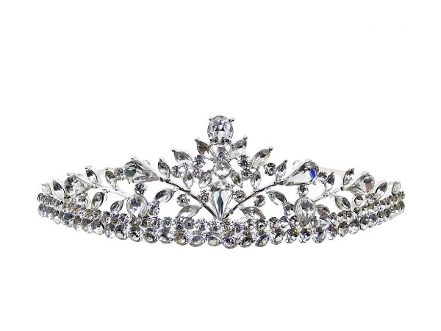 AMELIA - Silver Plated & Crystal Tiara
