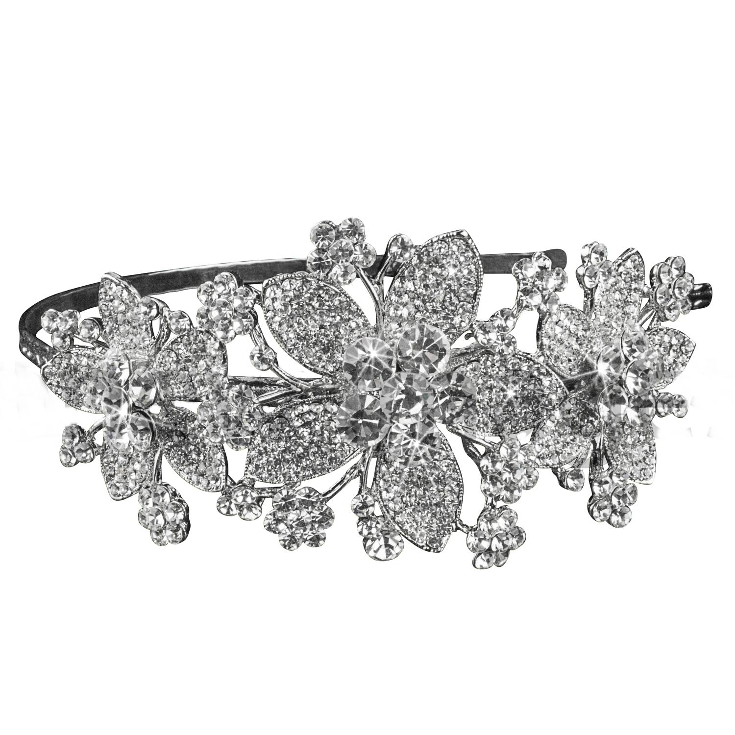 Crysal Flower Side Head Band