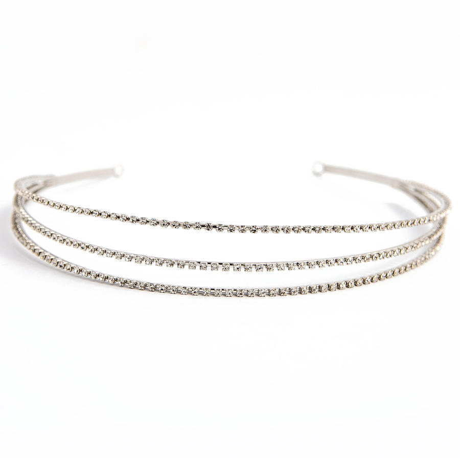 Silver Plated 3 row Headband