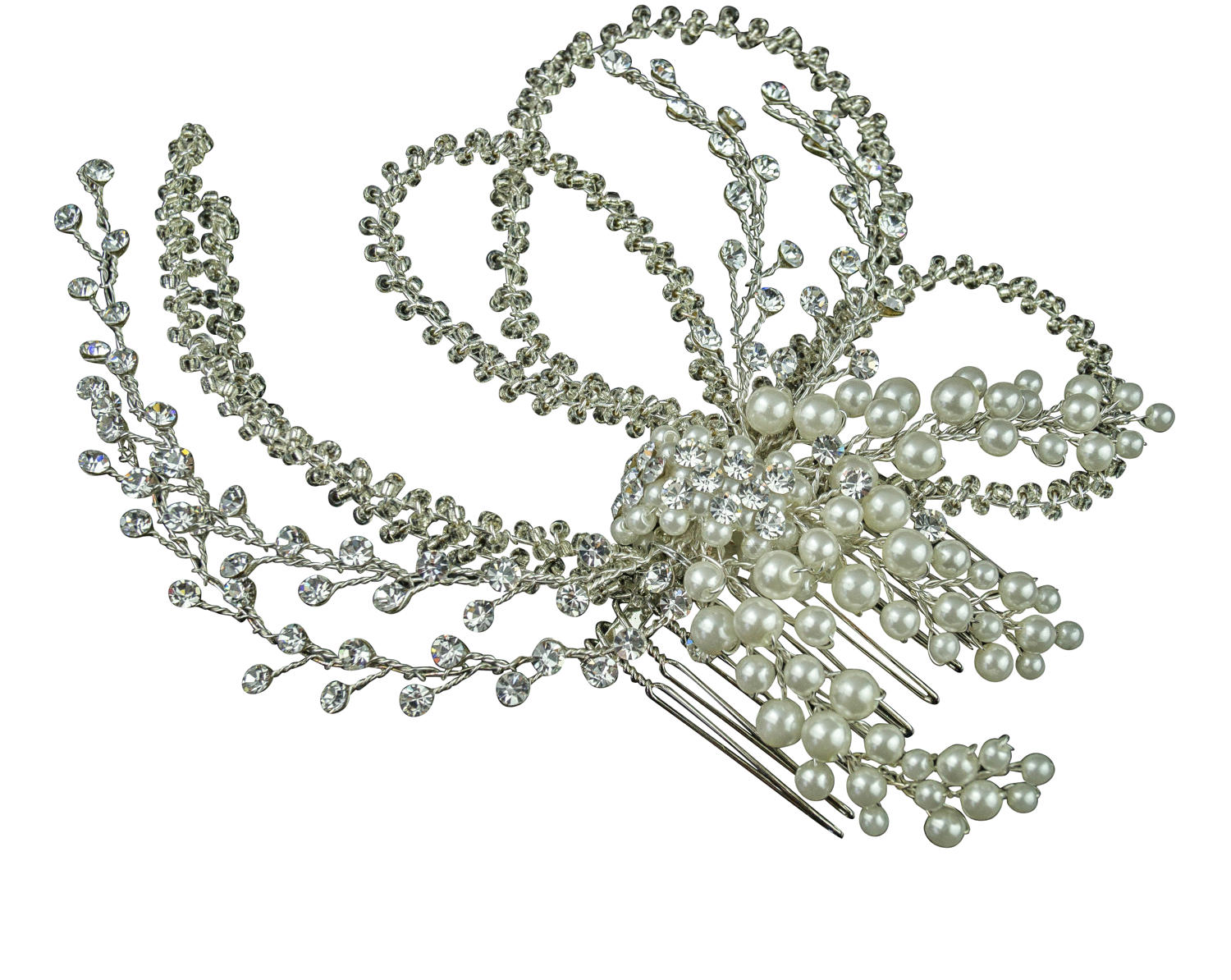 Crystal Pearl & Beaded Hair Comb