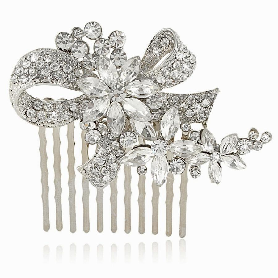 Small Crystal Hair Comb