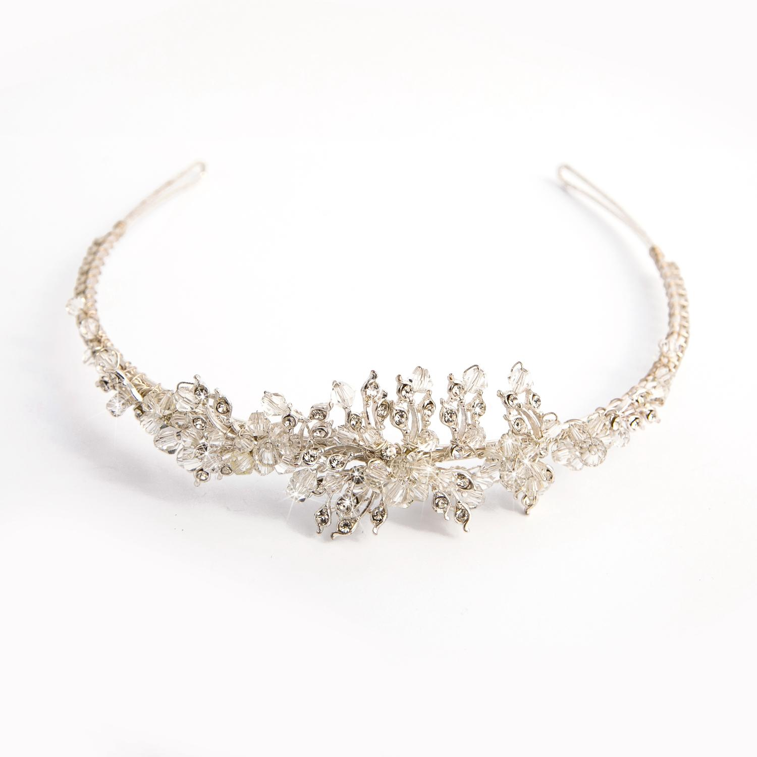 Silver Plated and Crystal Tiara