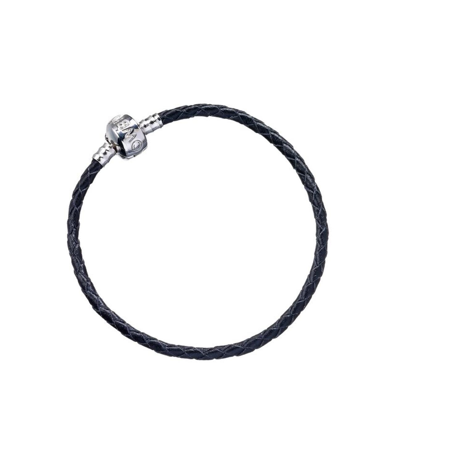 Black Leather Charm Bracelet in Harry Potter