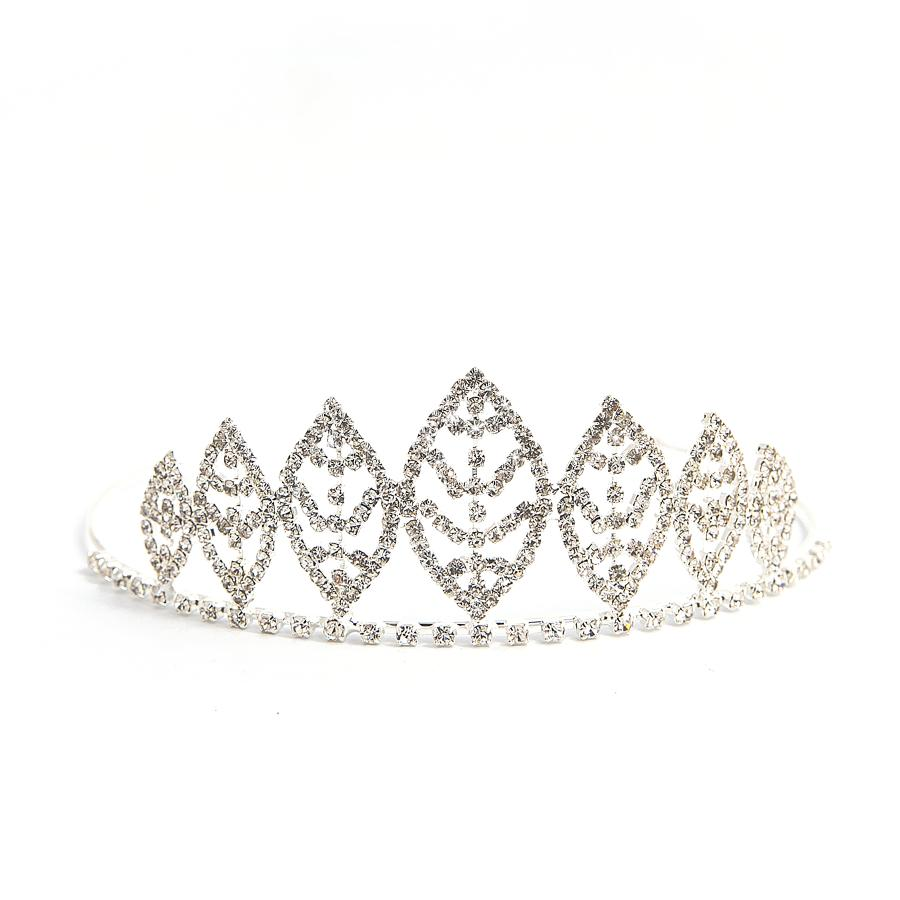 Small Bridesmaid Crystal Leaf Tiara