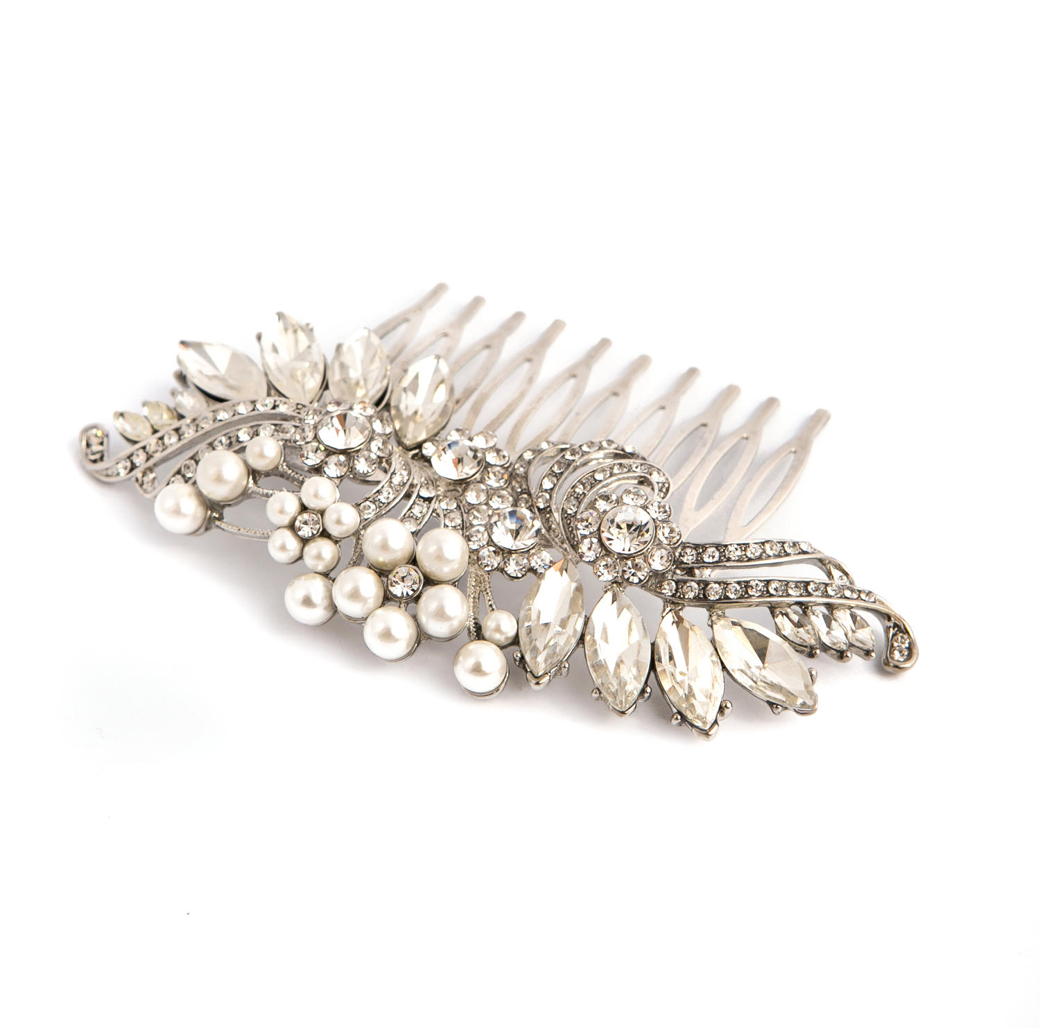 Crystal & Pearl Hair Comb