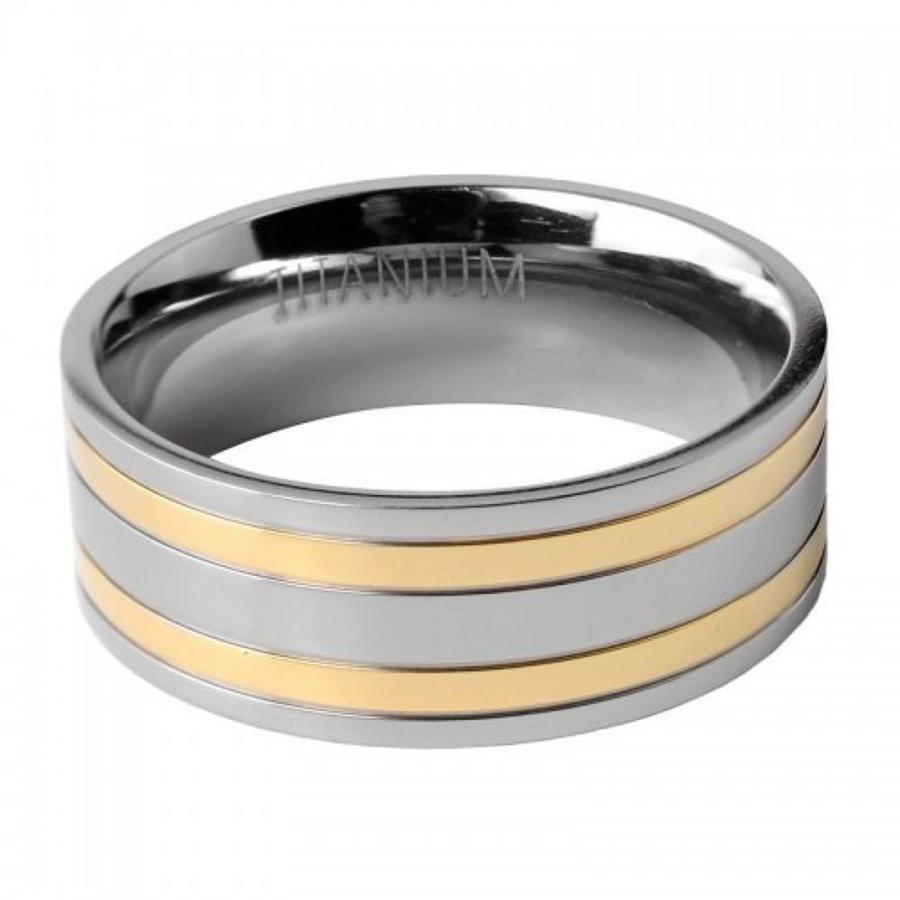 Gents Dual Colour Titanium Ring