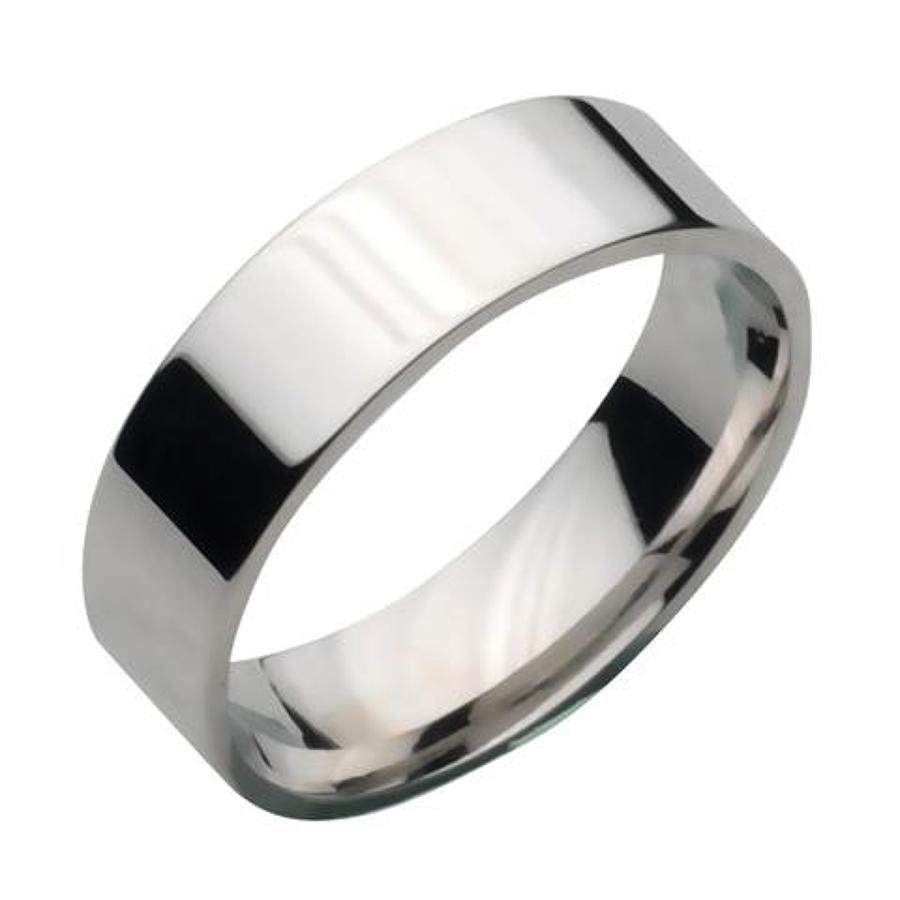Titanium Flat Polished Court Ring