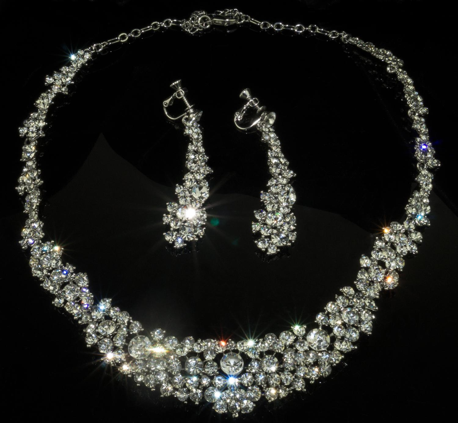 Crystal Collarette & Earrings Set