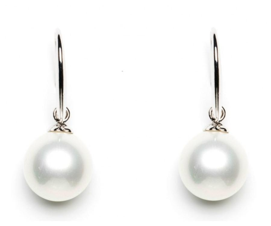 Silver Plated Pearl Drop Earrings