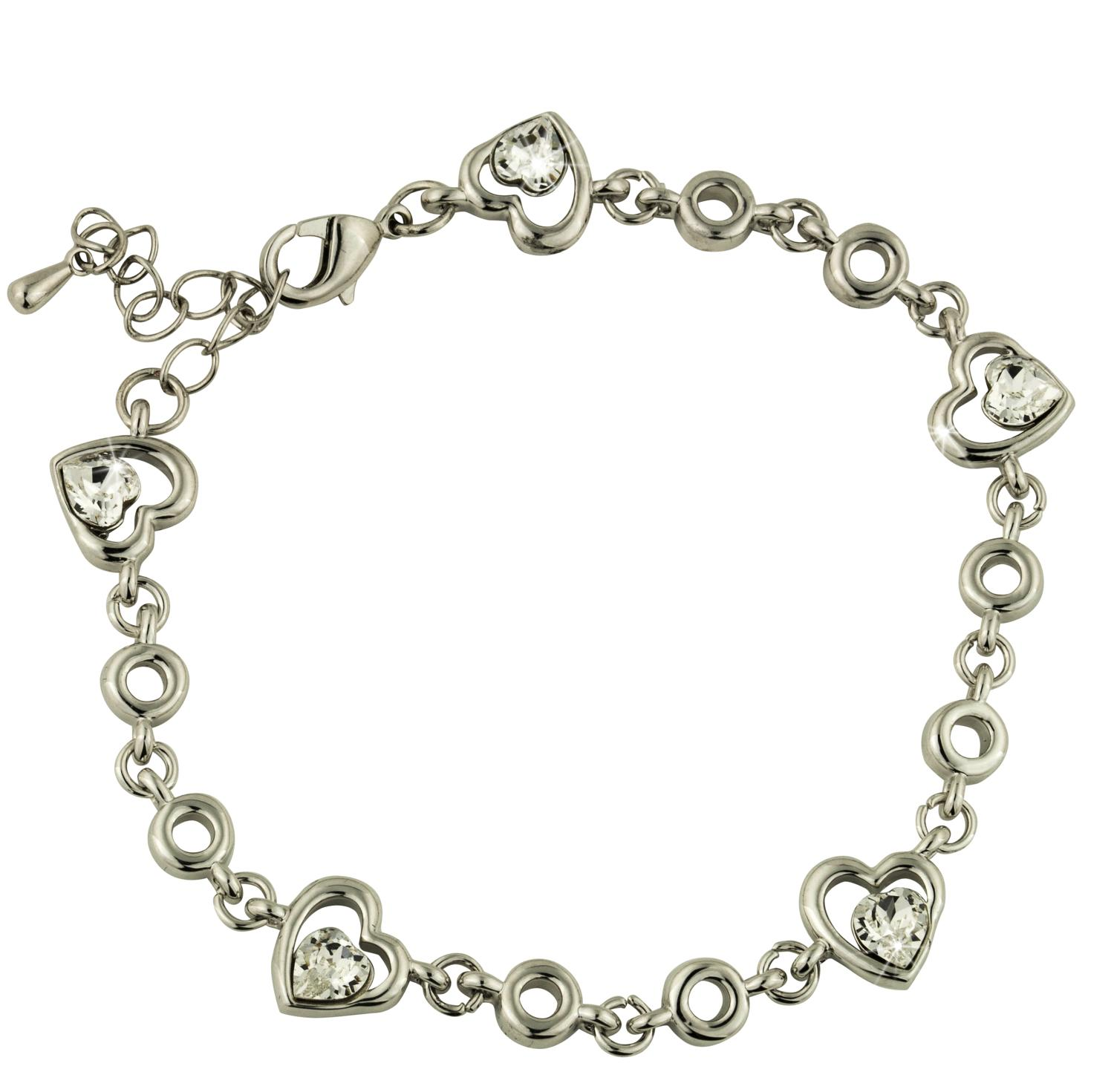 Multi Heart Crystal Bracelet