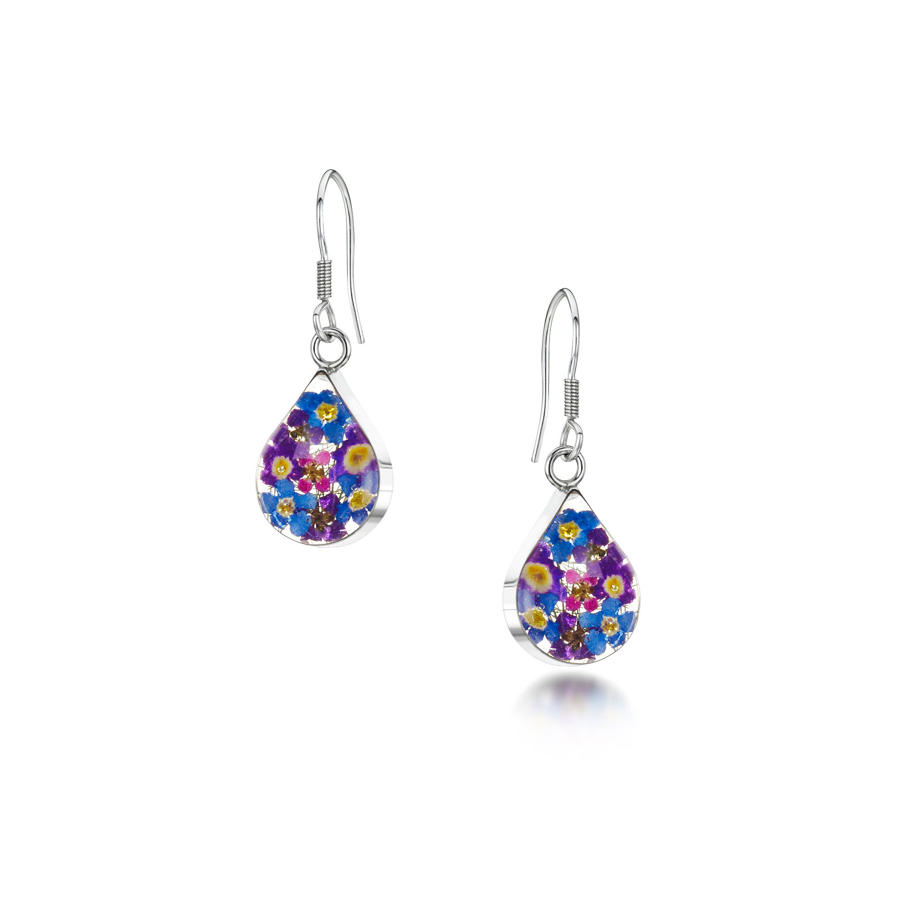 Purple Haze Teardrop Earrings