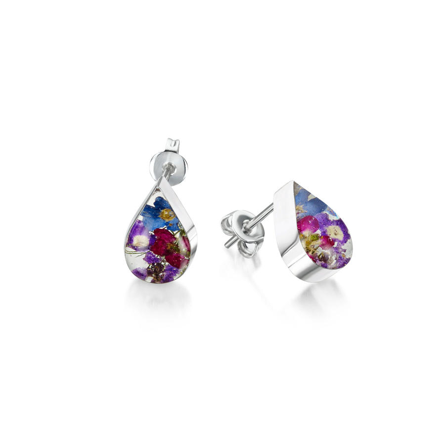 Purple Haze Teardrop Stud Earrings