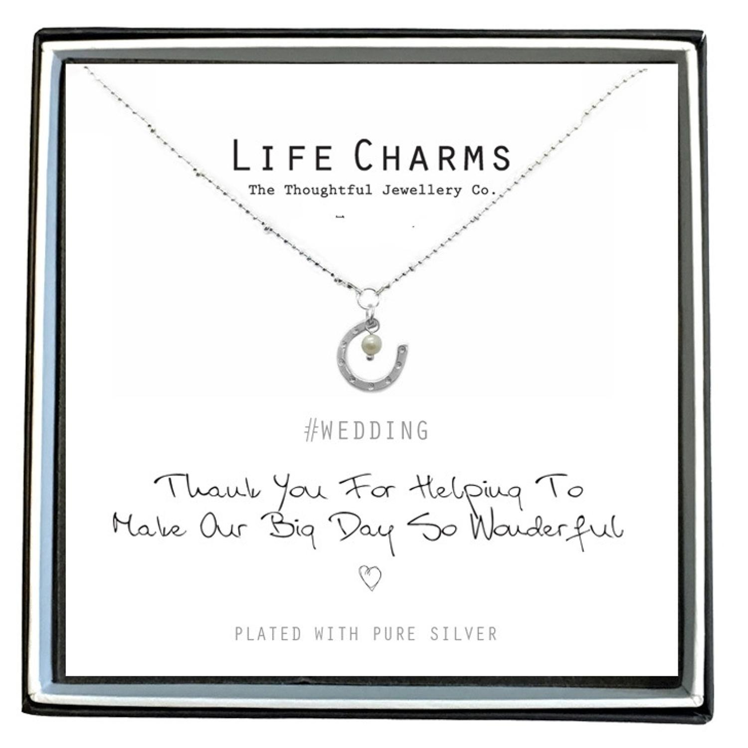 Thank You Horseshoe Necklace