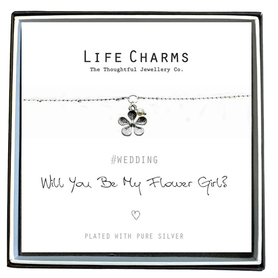 Will You Be My Flower Girl Flower Bracelet