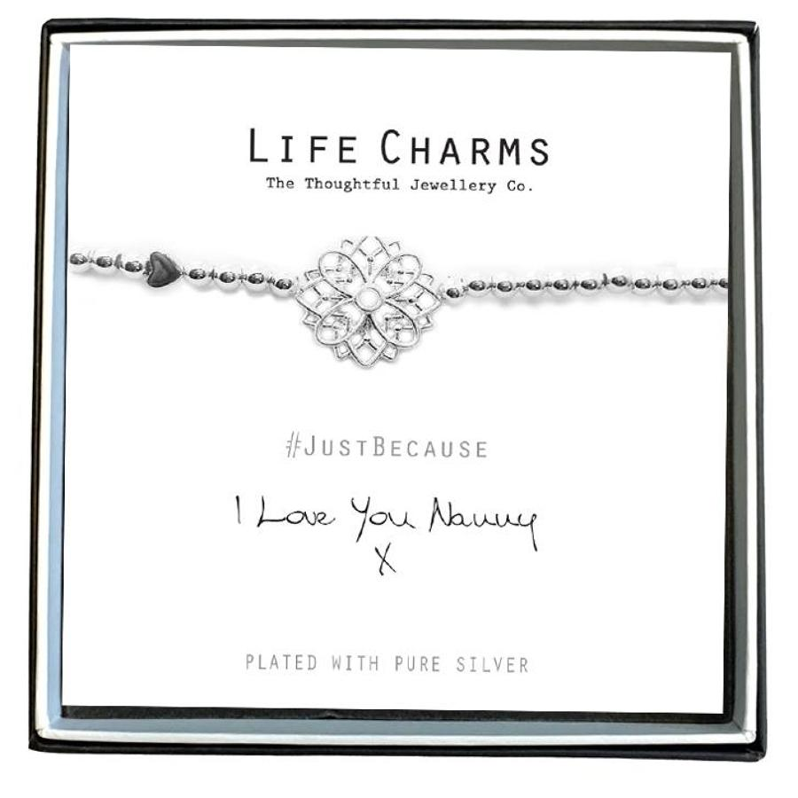 I Love You Nanny Flower Bracelet