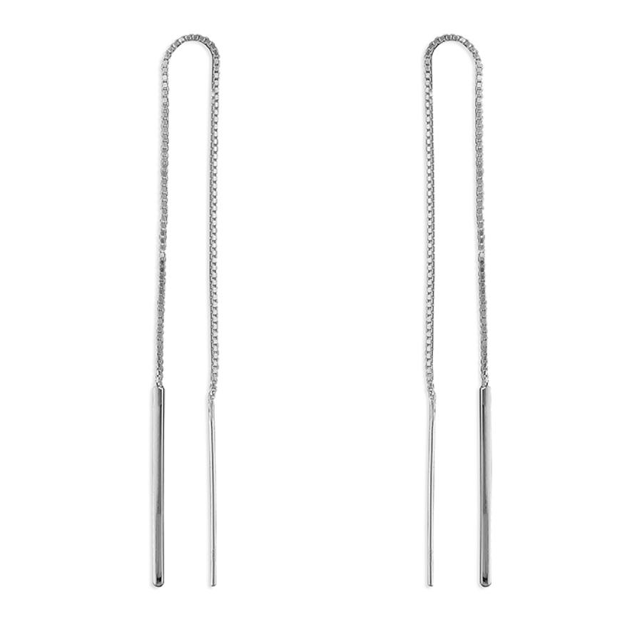 Sterling Silver Plain Bar Pull-Through Drops
