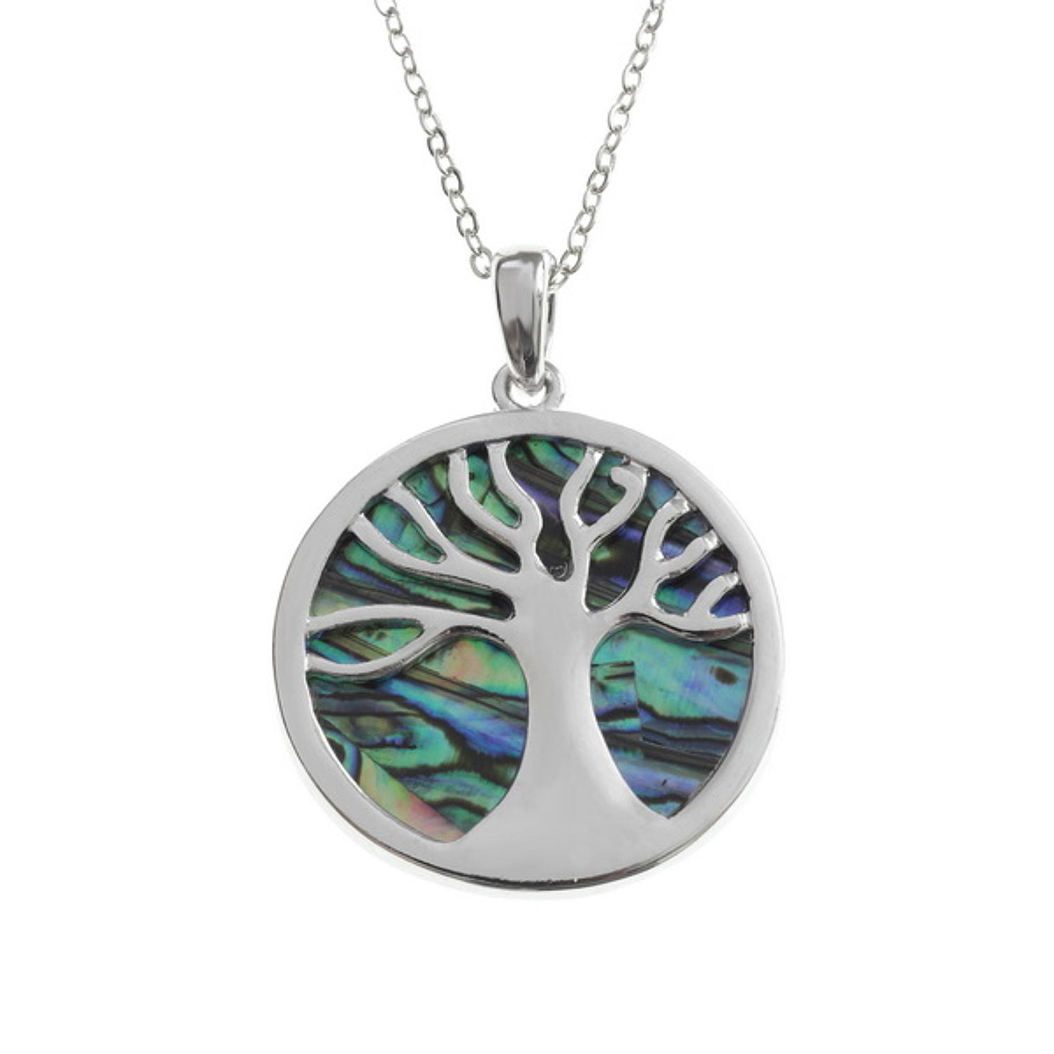 Tree Of Life Paua Shell Necklace
