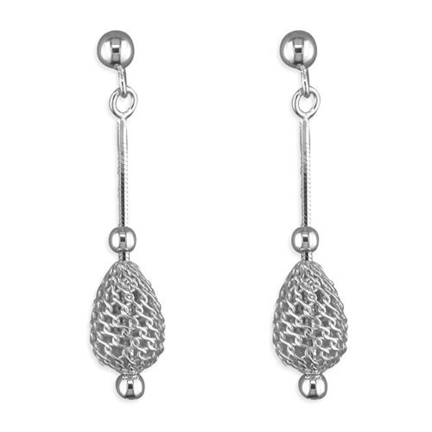 Sterling Silver Cage Bead Drops