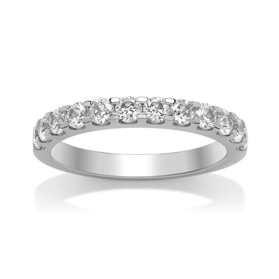 2.6mm Single Rolled Claw Set Diamond Ring