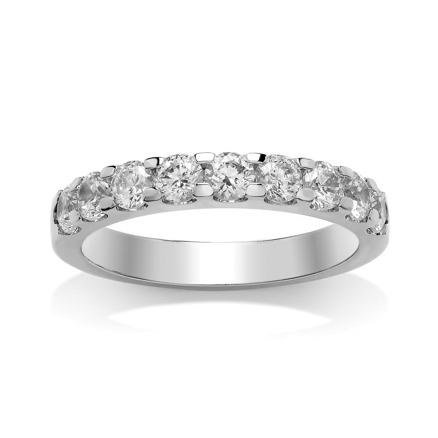 3.1mm Single Rolled Claw Set Diamond Ring