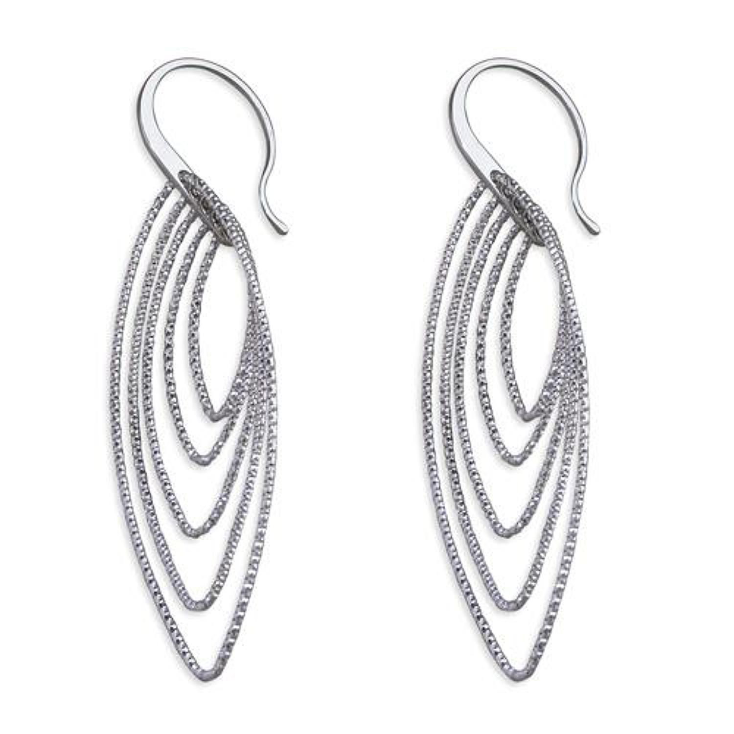 Sterling Silver Multi Marquise Sparkle Drops