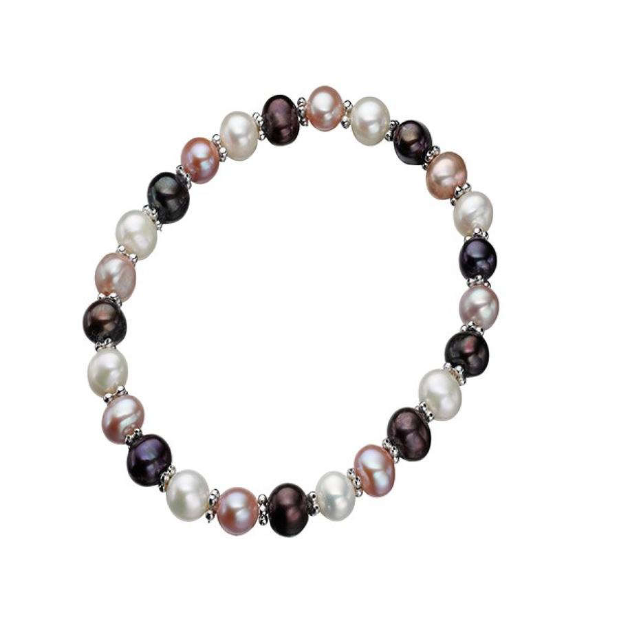 Sterling Silver Multi Colour Freshwater Pearl