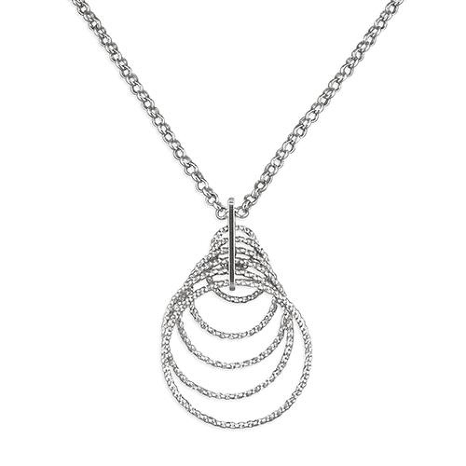 Sterling Silver Multi Round Sparkle Pendant