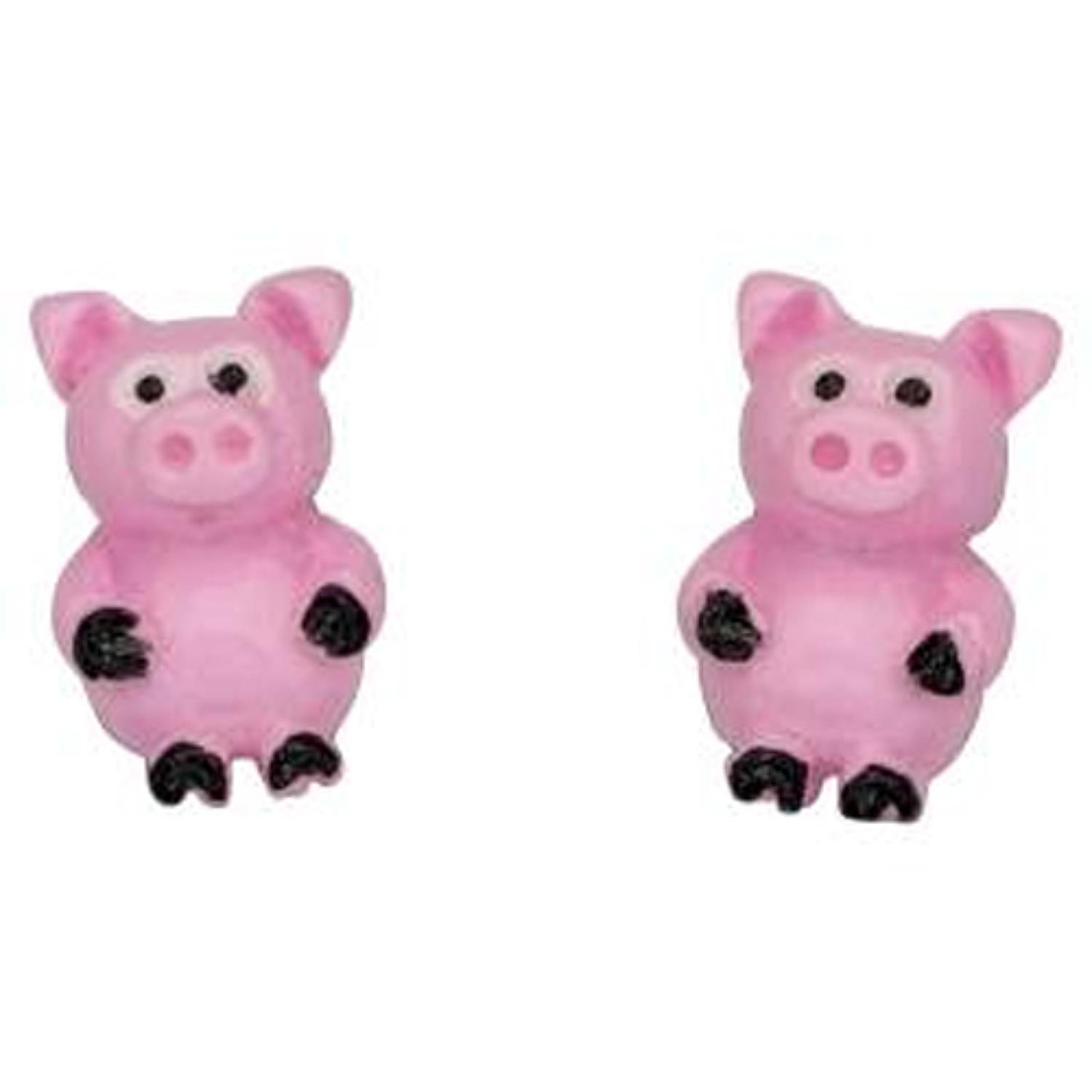 Sterling Silver Pig Studs