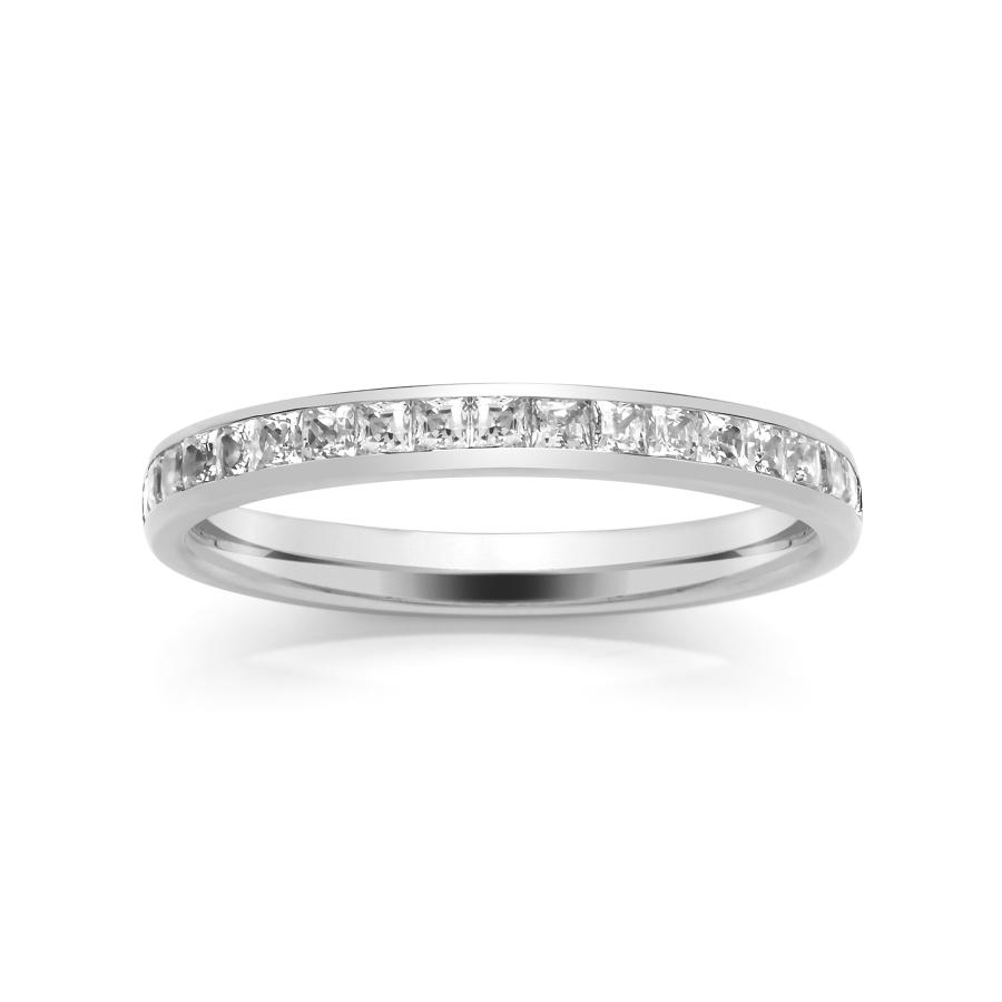 2.5mm Princess Cut Channel Set Ring
