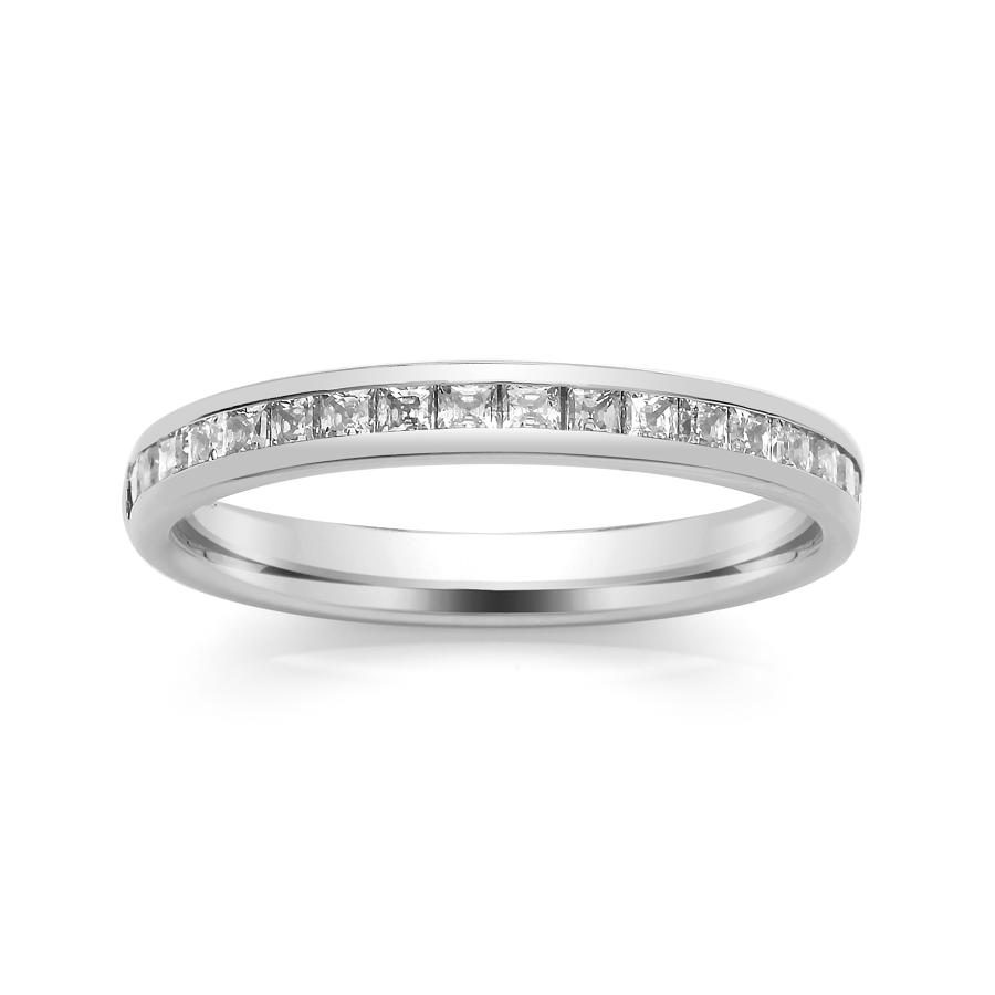 2.7mm Princess Cut Channel Set Ring