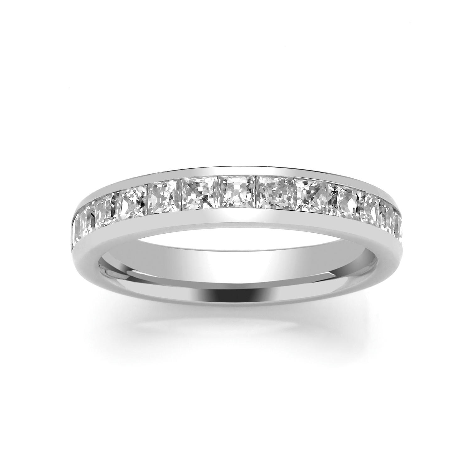 3.7mm Princess Cut Channel Set Ring