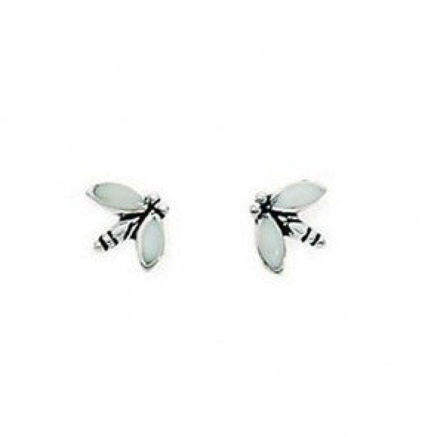 Sterling Silver Dragonfly Studs