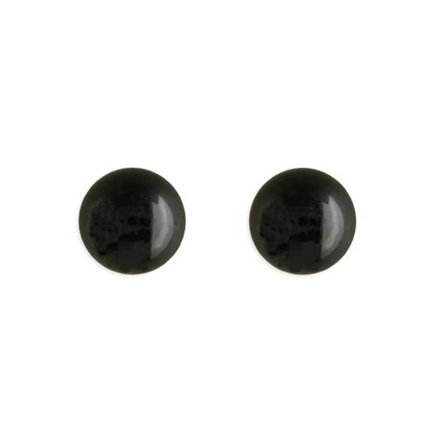 Sterling Silver Small Onyx Bead Stud