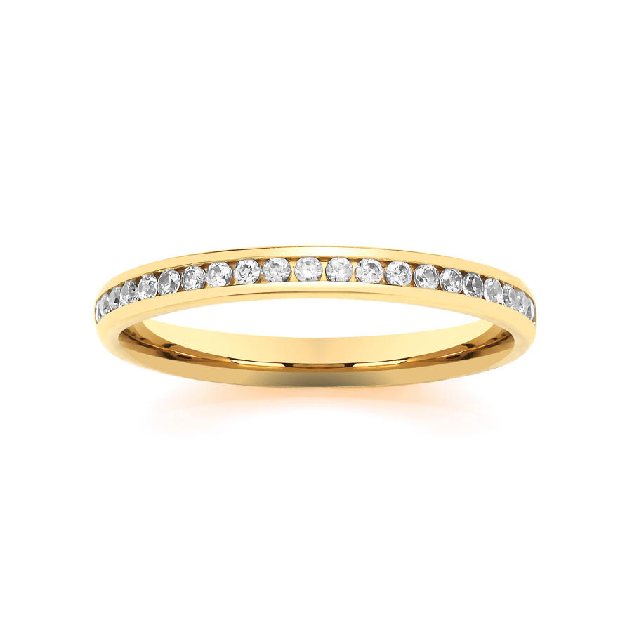2.2mm Channel Set Diamond Ring