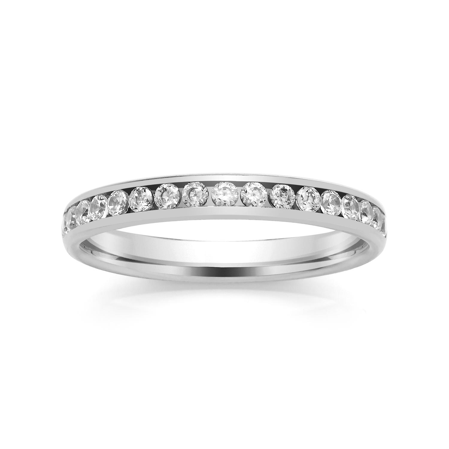 2.7mm Channel Set Diamond Ring