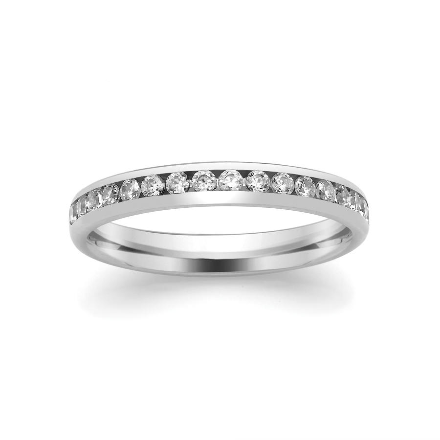 2.8mm Channel Set Diamond Ring