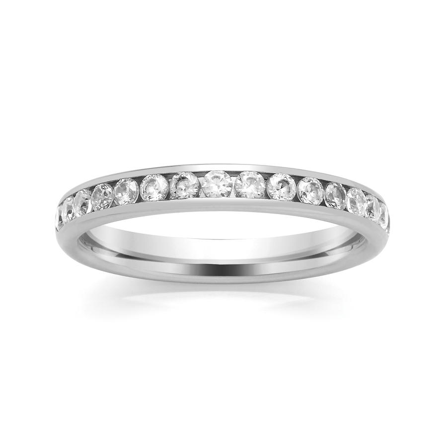2.9mm Channel Set Diamond Ring