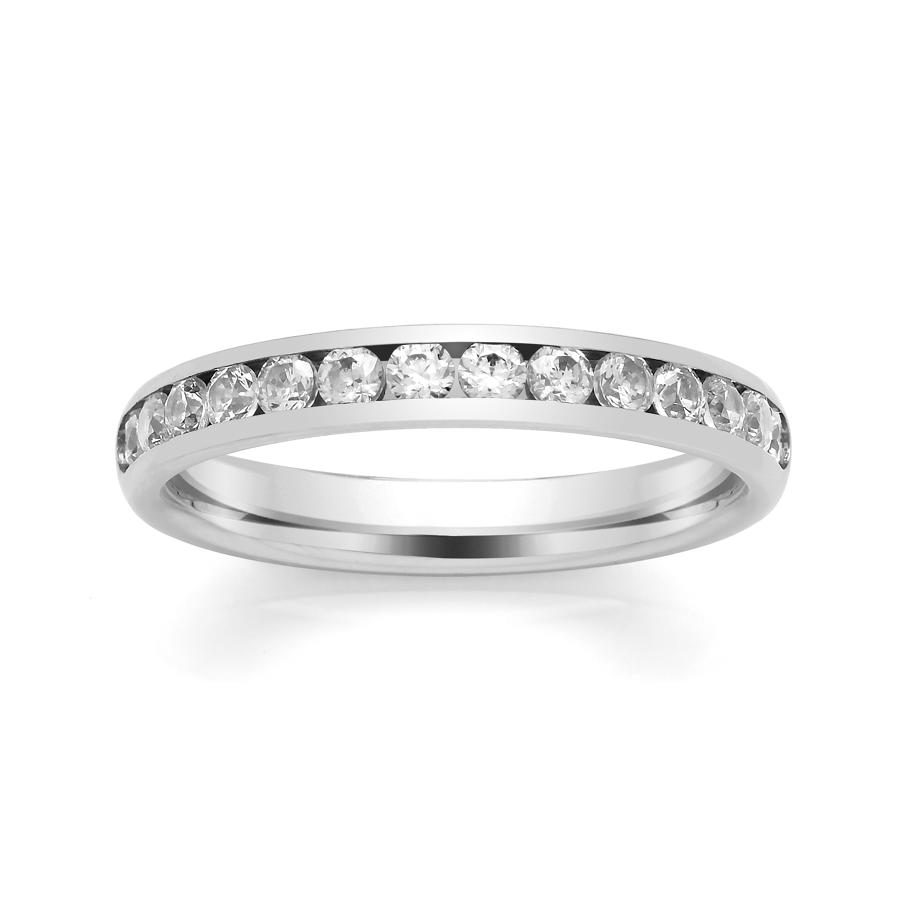 3.1mm Channel Set Diamond Ring