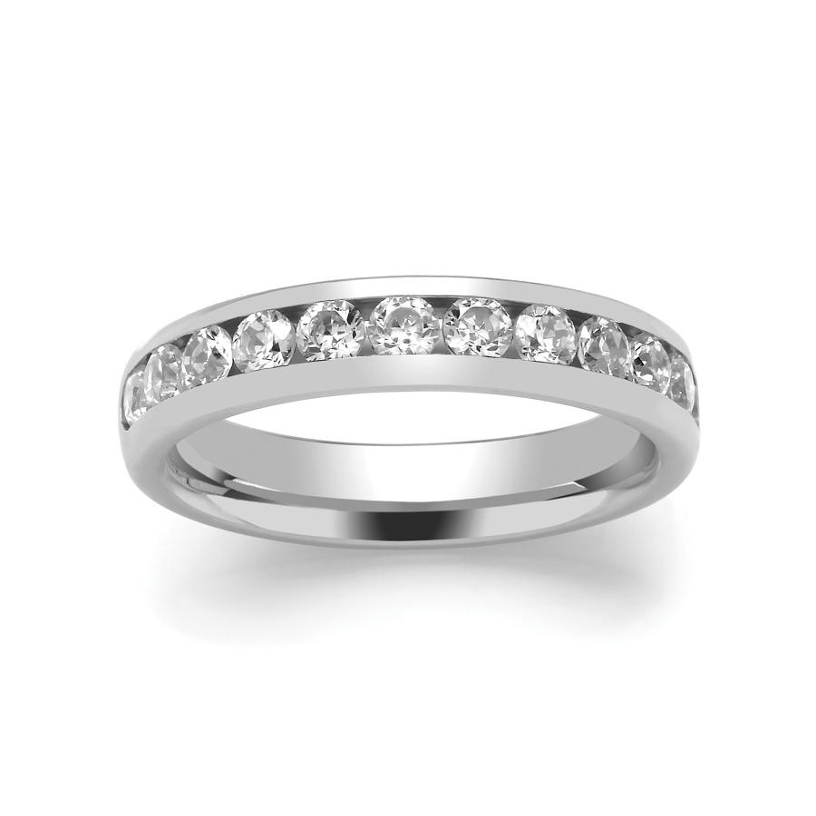 4mm Channel Set Diamond Ring