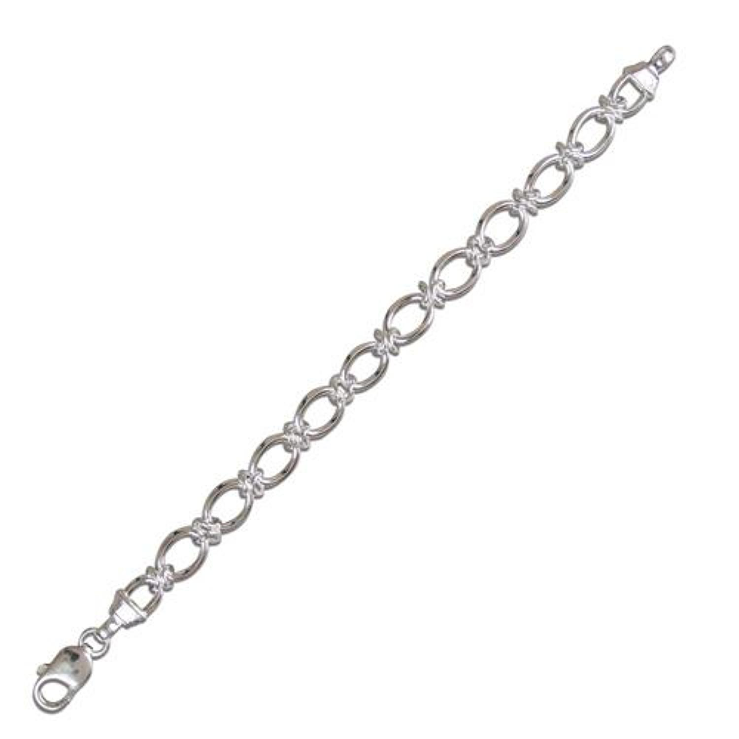 Sterling Silver Fancy Open Link Bracelet