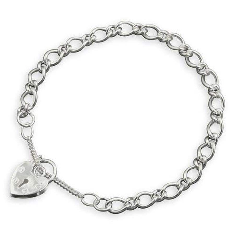 Sterling Silver Childs Curb Charm Bracelet