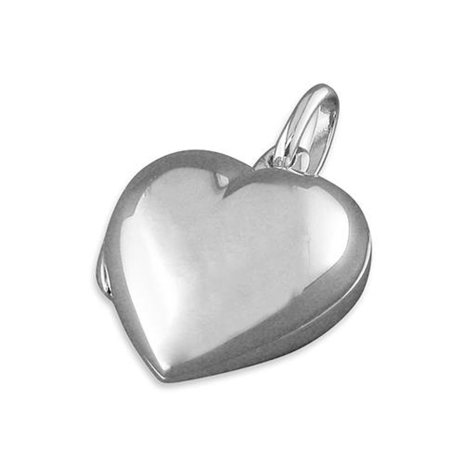 Sterling Silver Plain Heart Locket