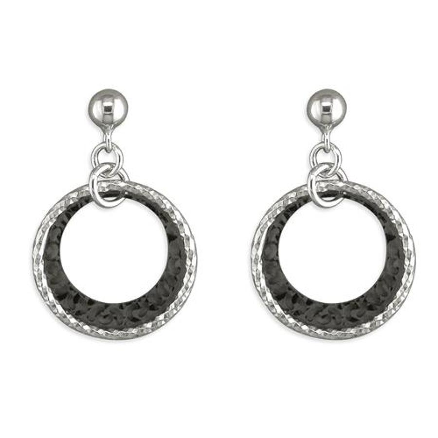Sterling Silver Double Ring Drops