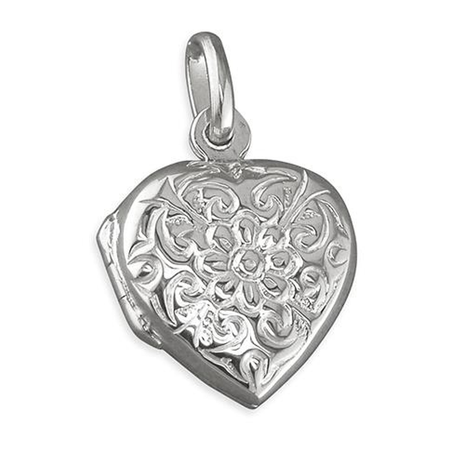 Sterling Silver Small Floral Locket