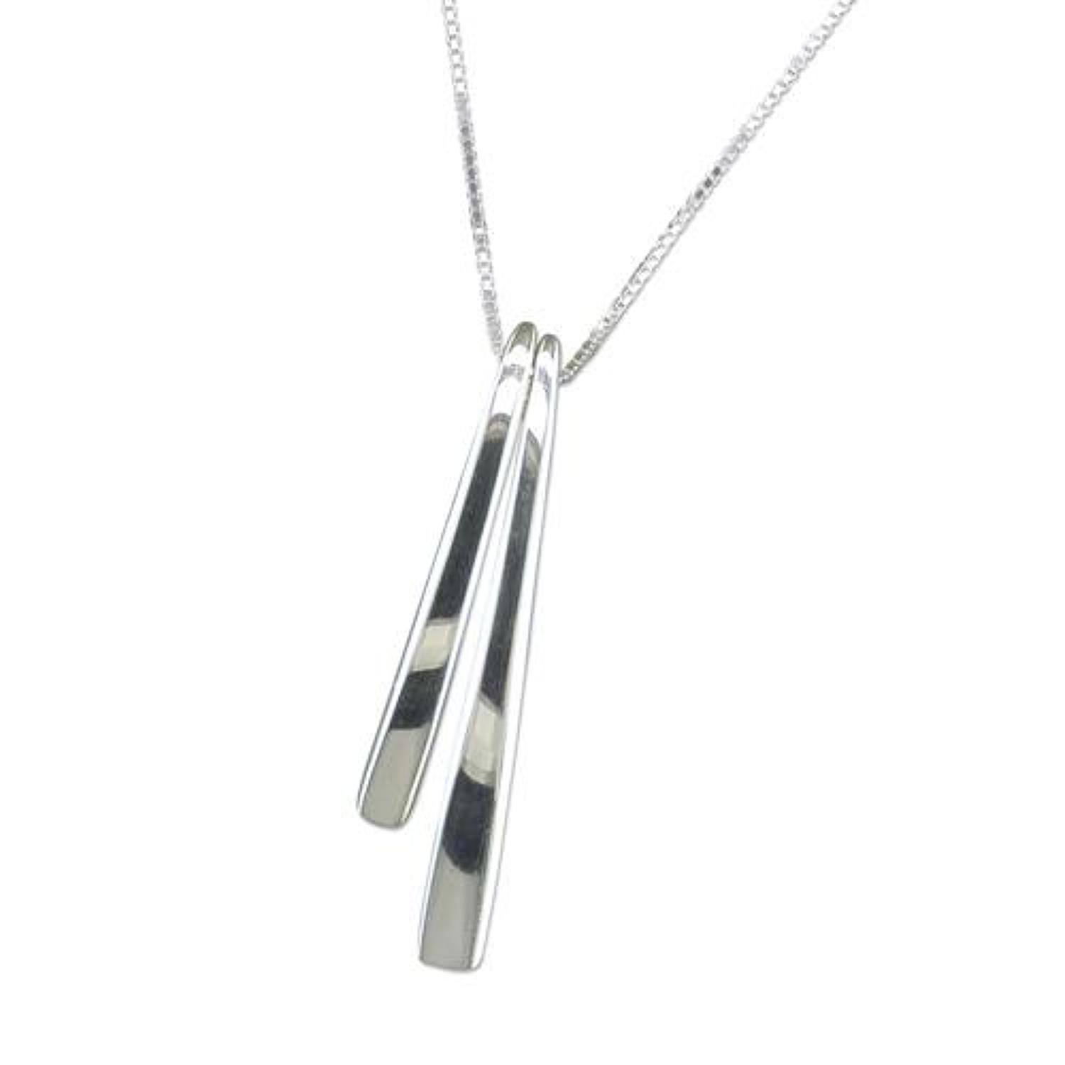 Sterling Silver Double Bar Pendant
